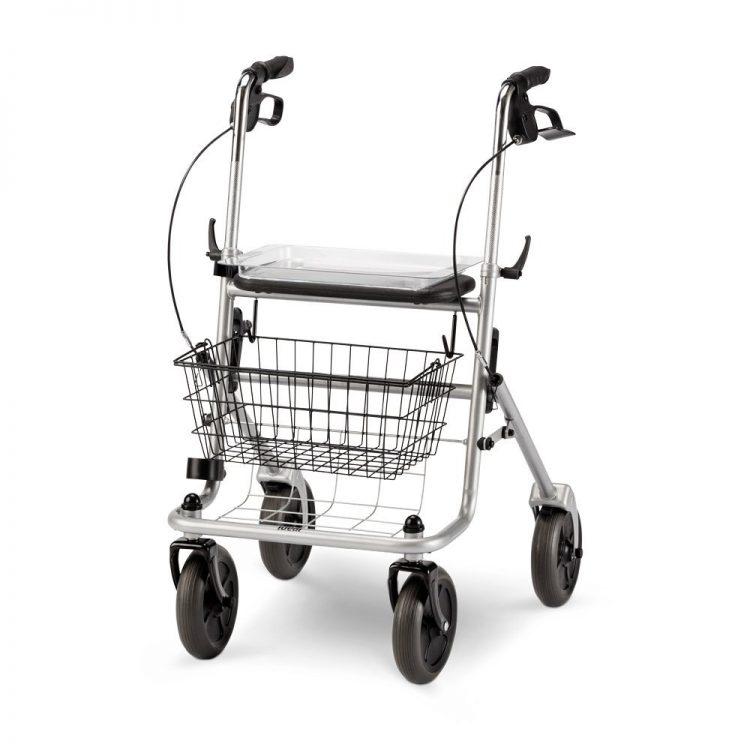 wimed deambulatore pieghevole roller a 4 ruote